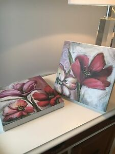 Petites toiles avec fleurs