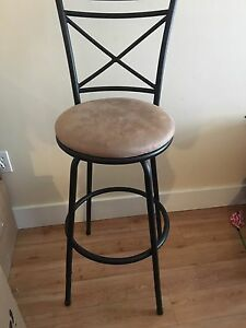 Tan and Black bar stool