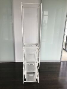 IKEA Algot Frame with clothes rail, Mesh Baskets and Frame