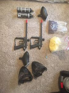 Set of two paintball