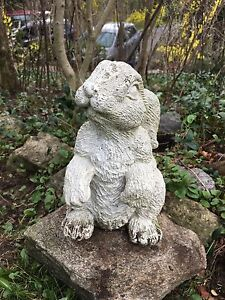 Cement Bunny Rabbit Garden Statue
