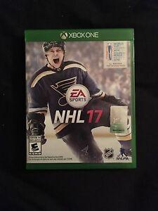 NHL17 xbox one presque neuf 30$ ferme