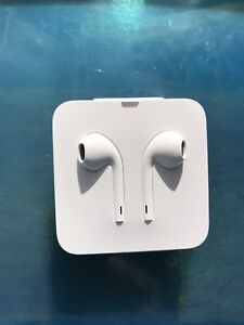 Apple Earpods with Lightning connector.
