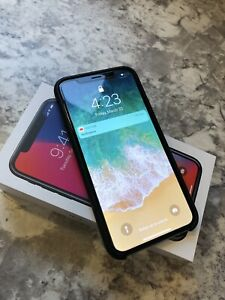 MINT iPhone X 64 BLK w/ apple case and glass protector!