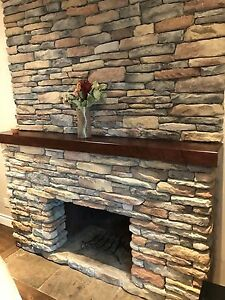 Stone veneer and mantle