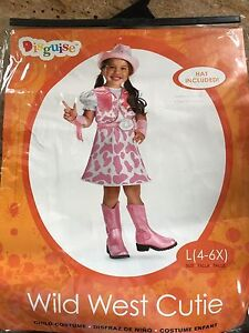Girls size 4-6x cowgirl costume