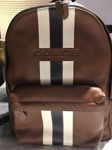 Coach Men's Leather Backpack - Brand New