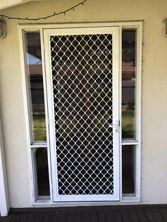 Security screen door with key