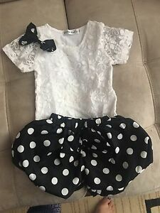 Cute size 2t bubble shorts and fancy shirt.