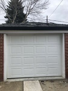 Used garage door