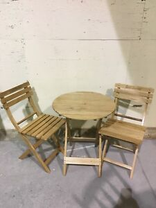 Solid Hardwood Bistro Set