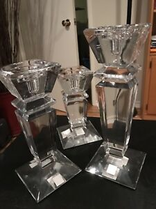 Bougeoir en cristal // Crystal Candle holder