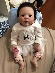 Asian Reborn baby girl Lifelike Vinyle doll! Docklands Melbourne City Preview