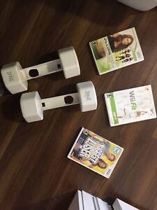 Wii board and work out video/weights