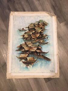 Canvas painting from Thailand