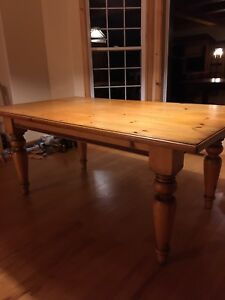 Pine entertainment center and dinning room table