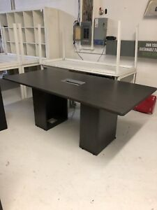 6' Boardroom Desk with Center Electrical Outlets