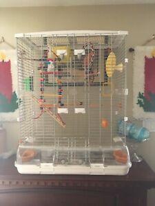 Double high bird cage