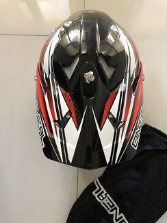 Oneal 2016 Youth Mx 3 Series Hurricane Black Red Kids Helmet