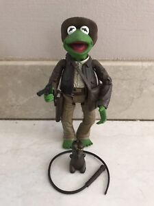 THE MUPPETS ADVENTURE KERMIT THE FROG INDIANA JONES FIGURE