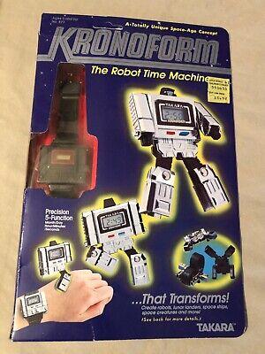 RARE 1983 Takara KRONOFORM watch MIB Unpunched in box transformers robot