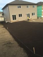 Final Grade $0.56 per sq.ft.  With On Point Landscaping