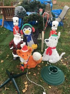 Outdoor decorations for Xmas.  Plus items not shown.