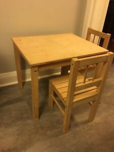 IKEA kids table. With two chairs