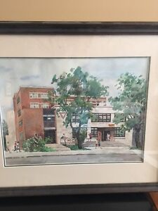 Original Jinrong Chen water colour of old YMCA