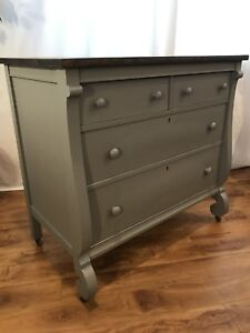 Beautifully Restored Antique Empire Dresser/ Sideboard/ Buffet