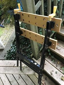 Folding Workmate style work support benches