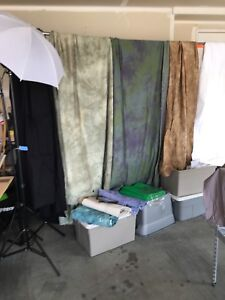 Photography Backdrops, lights and stands