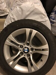 BMW original tires with mags.