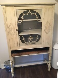 Refinished antique display cabiney