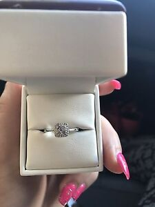 Engagement ring   18c gold with F colour Diamonds Kellyville The Hills District Preview