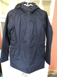 Ladies Navy North Face lined jacket.  Sz med