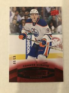 15-16 Overtime Connor McDavid Red Rare Rookie!
