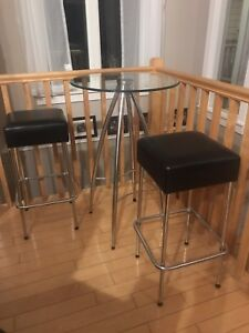 2 Bar Height table sets  w/stools