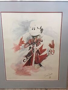 Wayne Gretzky Canada Cup Lithograph