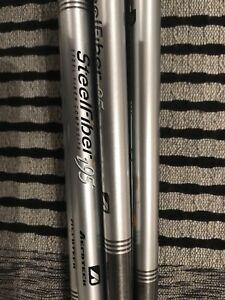 Set of 8 Steelfiber aerotech 95 gram golf club shafts