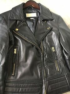 Stunning Michael Kors leather jacket small
