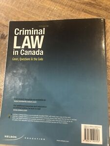CRIMINAL LAW IN CANADA 5th Edition (Cases,Questions and Code)