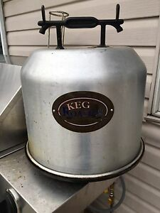 Keg roaster for drunken turkey or 3 chickens