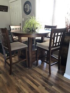 Tall table and chairs