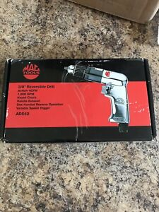 2 Mac tools reversible air drills 1/2 inch and 3/8 inch