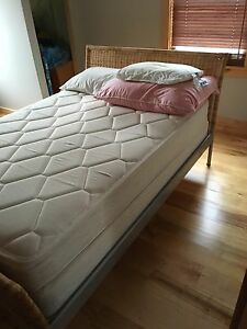 IKEA double/full bed frame with mattress and box spring