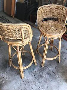 2 swivel cane bar stools Blackbutt Shellharbour Area Preview