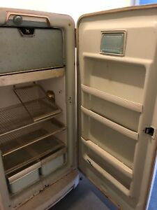Norge Deluxe Antique Fridge 1950's
