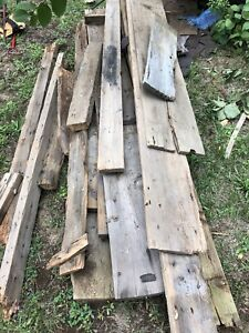 Rustic barn boards. $80 & take as much as you like.