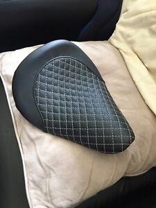 Leather diamond stitch seat